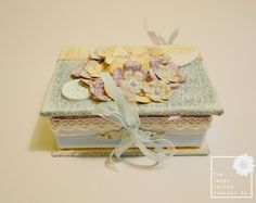 Shabby Chic Keepsake Box & Mini Album using the inspired Graphic 45 Secret Garden collection. By The Happy Yellow Trading Co.