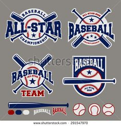 baseball sport badge logo design