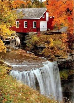 The Old Mill in Autumn | Water Wheels | Pinterest