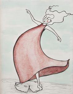 Leichtigkeit . Lightness . Ligereza #dailySketch #lightness #illustration #red #waterlilly