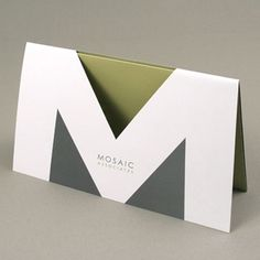 Mosaic Associates - Gatefold with die cut