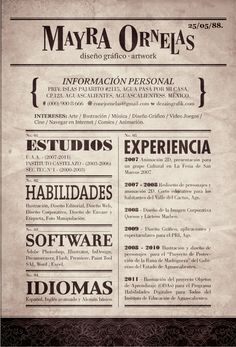 Resume by ~CONEJOTO on deviantART...sweet design!