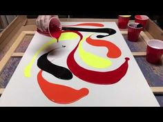 Fluid Painting to the Extreme!! Dude uses a 2 feet Squigee to Swipe Cells!! You gotta see this!! - YouTube