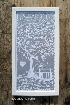Wedding Anniversary Papercut Gift