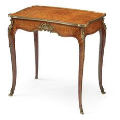 François Linke 1855 - 1946 A Louis XV revival gilt-bronze mounted kingwood and tulipwood small table Paris, circa 1905