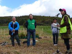 ≪Present Tree in 宮古≫ 第2回植樹イベント_20131013 開会式を始めますので皆さん、お集まりください。