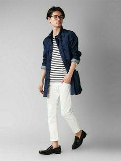 爽やかコーデ。春夏のファッション アイテム メンズショップコート コーデを集めました。
