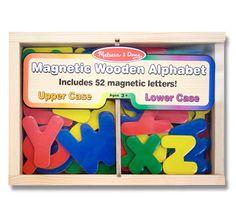 Alfabeto de madera magnético | Juguetería Kukubaya.com