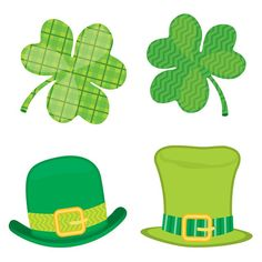 Patrick's Day by giving your classroom a lucky look! The multipurpose St. Patrick's Day mini Colorful Cut-Outs feature 32 assorted clovers and hats, perfect for classroom celebrations, s Cubby Tags, St Patrick's Day Crafts, St Patrick's Day Decorations, Carson Dellosa, Senior Activities, St Pats, Diy Garland, Game Pieces, Classroom Themes