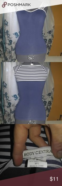NWOT Pin up M/L stretchy nautical style Body Central M/L super stretchy nautical pin up style shirt Body Central Tops Tees - Short Sleeve