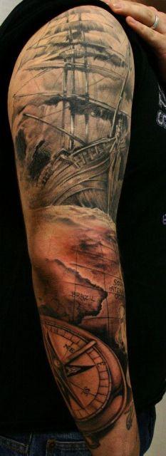 Tattoo-Foto: Arm Komplett halb fertig