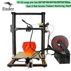 Newest 3D Printer CR-10S Upgrade Dual Z Rod Screws,Filament Monitoring Alarm Printer 3D DIY Kit CREALITY 3D attend detail pags