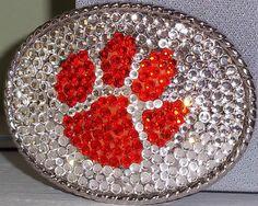 Crystal Orange Paw Tigers Inspired Belt by ItsHerTeam, $59.00