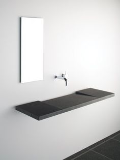 Minimalist design sink. This would look nice in a MAB or Satin Stainless Steel.