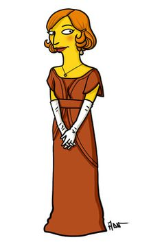 "Lady Edith Crawley. | ""Downton Abbey"" Characters Drawn As ""The Simpsons"""