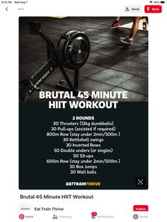 Crossfit Workouts At Home, Cardio At Home, Weight Training Workouts, At Home Gym, Amrap Workout, Gym Workout Tips, Tabata, Strength And Conditioning Workouts, Intense Workout