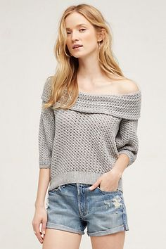 Gatienne Off-The-Shoulder Top  Great transition piece. #anthropologie