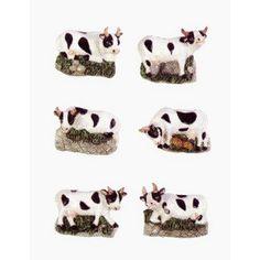 Cow Kitchen Decor Cow Ceramic Fridge Magnets Refrigerator Magnets 6pc