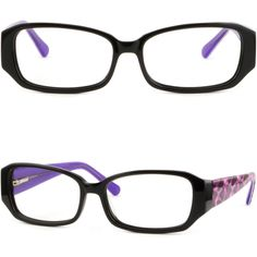 Chic Fashionable Women's Acetate Frame Thick Arm RX glasses Spring Hinges Black #Unbranded