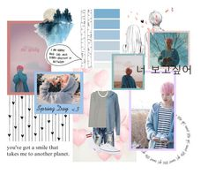 """Jimin - Spring Day"" by reveluv-br ❤ liked on Polyvore featuring ferm LIVING, Camp, GET LOST, American Eagle Outfitters, Uniqlo, Faith Connexion, Vans, men's fashion and menswear"