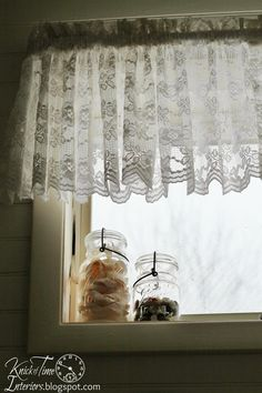 White-Lace-Curtains-Farmhouse-Window-Bathroom-Remodel-Knick of Time