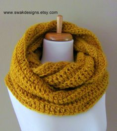 Oversized Eternity Scarf  Burnt Gold or CHOOSE Your by SWAKCouture, $58.00