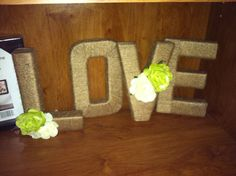 Twine and flower letters LOVE