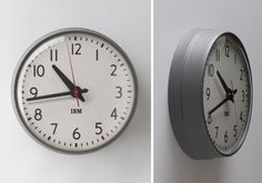 1960′s IBM 13.5 Standard Issue Clock. IBM partnered up with the American company Schoolhouse Electric & Supply Co. to bring this classic back to life.