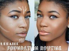 HOW TO: DRUGSTORE Contour,Highlight, Foundation for Black Women Makeup Tutorial 2015 ( DARK SKIN ) - YouTube
