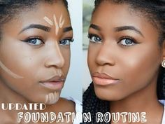 HOW TO: DRUGSTORE Contour,Highlight, Foundation for Black Women Makeup Tutorial 2015 ( DARK SKIN ) - YouTube