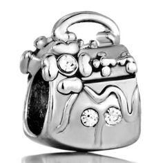 Pugster Charm Beads Clear Crystal Flower Handbag European Fit Pandora Chamilia Biagi Charm Bracelet Pugster. $12.49. Pugster are adding new designs all the time. Free Jewerly Box. Money-back Satisfaction Guarantee. Fit Pandora, Biagi, and Chamilia Charm Bead Bracelets. Unthreaded European story bracelet design
