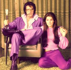 Elvis and Priscilla...the King and his Queen