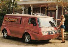 Alchemist Custom 70's van with Cutlass grill and headlights