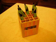 Popsicle stick pen holder by LaportReport, via Flickr
