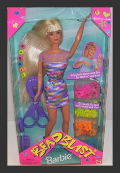 1997 Blonde Purple Outfit Bead Blast Barbie Doll « Game Searches