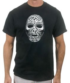 a967d18c1 Checkout the Gerry Cheevers stitch-pattern goalie mask T-Shirt. Usa Hockey