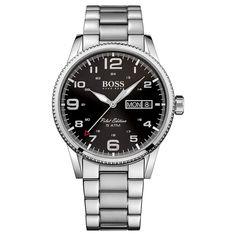 Hugo Boss Pilot Vintage Mens Quartz Watch 1513327 for sale online Hugo By Hugo Boss, Hugo Boss Watches, Watches For Men, Stainless Steel Bracelet, Stainless Steel Case, Lion Necklace, Automatic Watch, Rolex Watches, Pilot