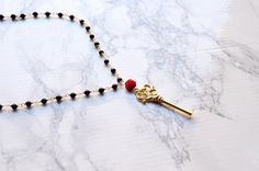 Your place to buy and sell all things handmade Key Necklace, Tassel Necklace, Beaded Bracelets, Black Onyx, Red Roses, Buy And Sell, Magic, Dark, Handmade