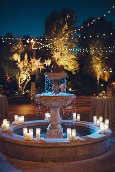 A Santa Barbara bride was inspired by her love of astrology for a unique wedding day, including hanging paper star lanterns. Paper Star Lanterns, Front House Landscaping, Garden Water Fountains, Celestial Wedding, My Secret Garden, Spanish Style, Unique Weddings, Santa Barbara, Exterior