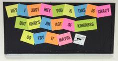 Bulletin Board Idea for Middle/High School