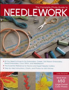 "Fabulous new needlework book by Linda Wyszynski ""The complete Photo Guide to Needlework"".  Read a book review by Phyllis Dobbs."