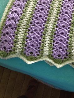 [Lyndsay's] first Mile-A-Minute baby afghan even though I have crocheted for years. Step by step instruction with plenty of photos