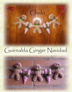 """El rincón de Chelo: Tutorial-""""Guirnalda Ginger de Navidad"""""""