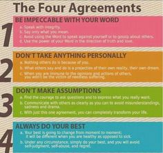 I LOVE LOVE LOVE The Four Agreements, one of the greatest books ever! By don Miguel Ruiz