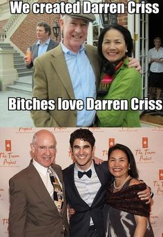 Now it's time to thank Mama Criss and Daddy Criss!