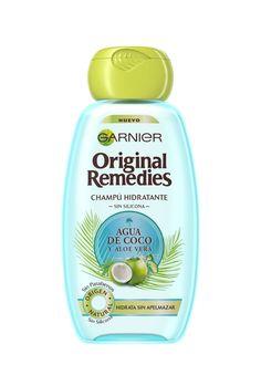 Garnier Original Remedies Champú hidratante agua de coco y aloe vera 250ml.