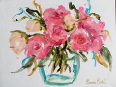 Mini Pink Flowers #watercolorarts
