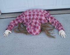 Halloween Decoration: Caught Under The Garage Door