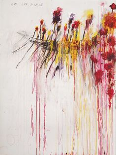 Cy Twombly - Coronation of Sesostris, 2000. #abstractart #americanart