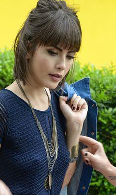 Maria Casadevall posa para campanha de acessórios Atriz é garota-propaganda da marca Balonè